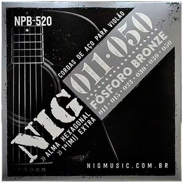 Corda Para Violão 011 NPB-520 Phosphor Bronze NIG
