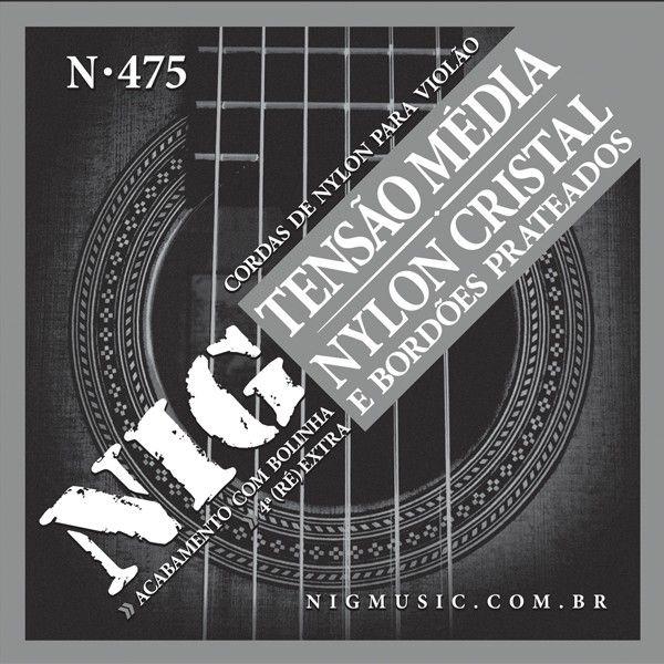 Corda Para Violão Nig Nylon Tensão Media N-475