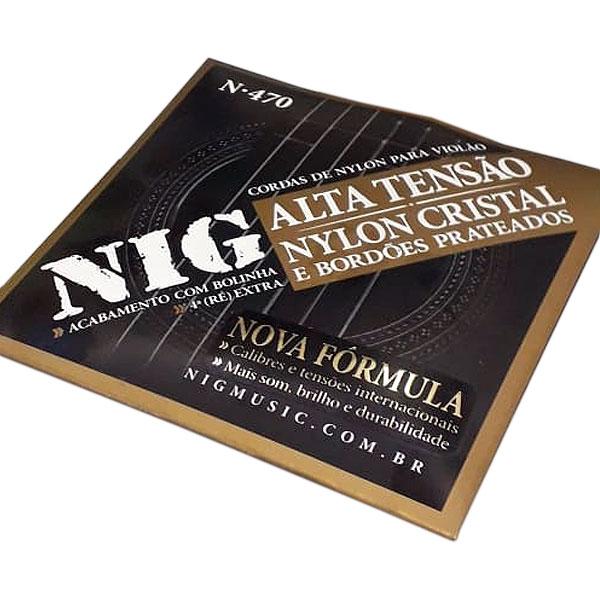 Corda Para Violão Nylon Tensão Alta N-470 NIG