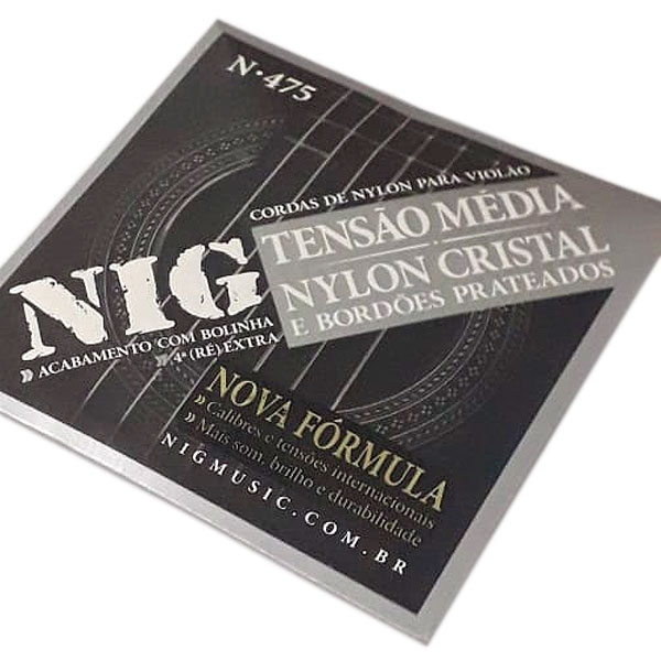 Corda Para Violão Nylon Tensão Media N-475 Nig