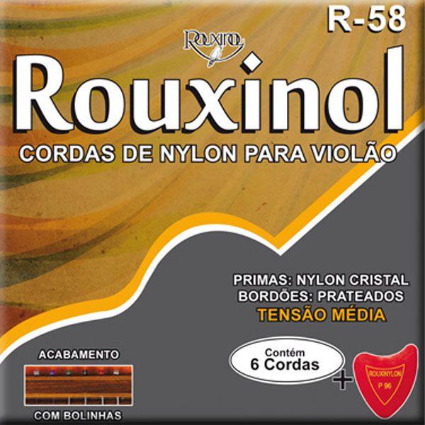 Corda Para Violão Rouxinol Nylon R-58 Tensão Média