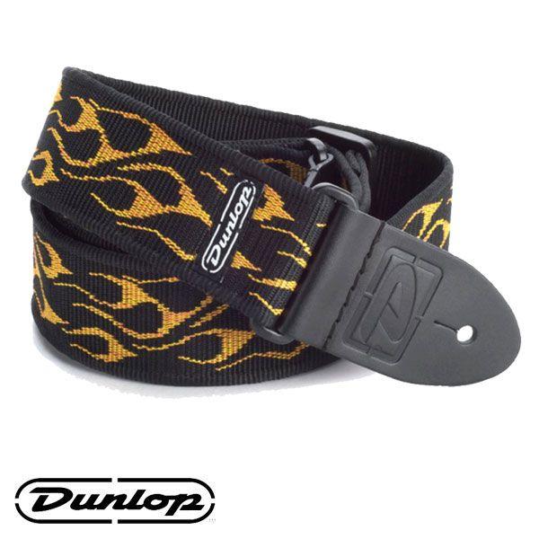 Correia Dunlop para Guitarra Flambe Amarela