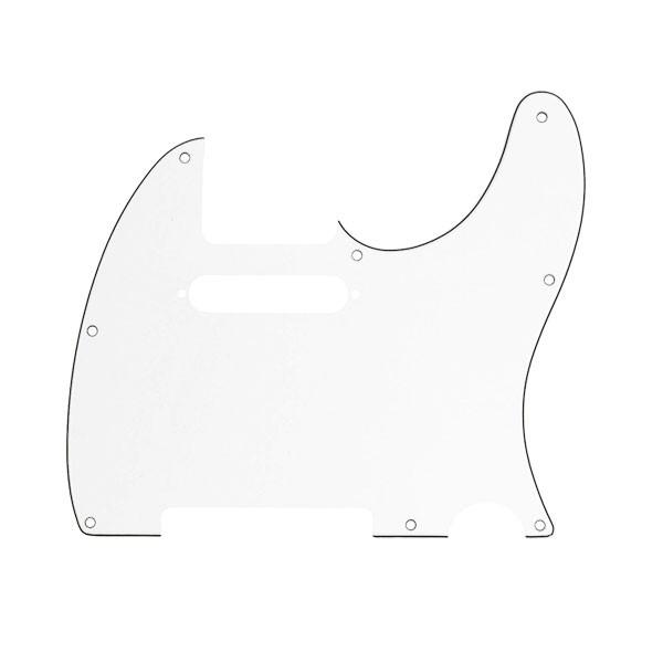 Escudo Fender Branco Para Telecaster 3 Camadas