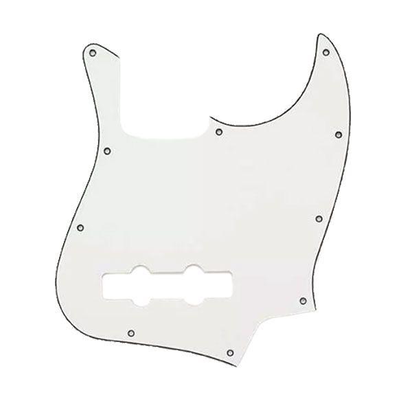 Escudo Para Jazz Bass Sanduichado Branco