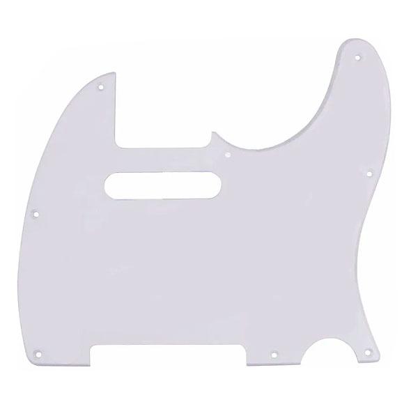 Escudo Para Guitarra Telecaster 1 Camada Branco Dolphin