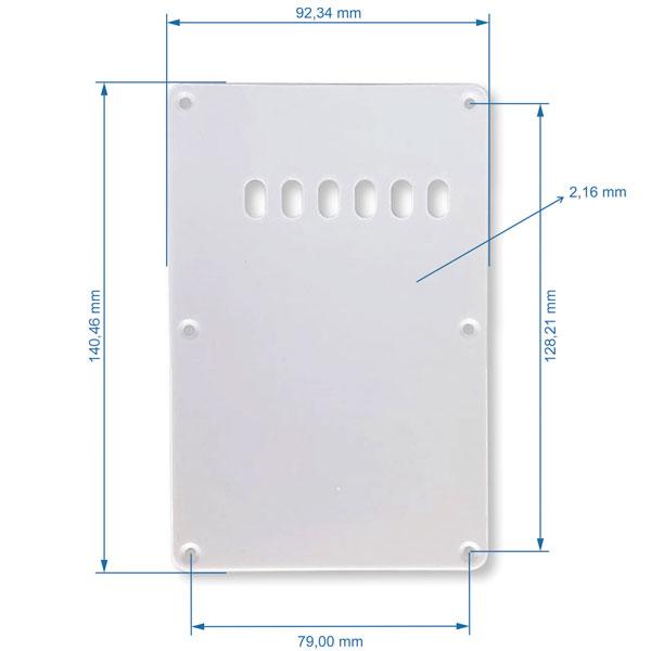 Escudo Traseiro Para Strato Com Abertura Branco Andaluz