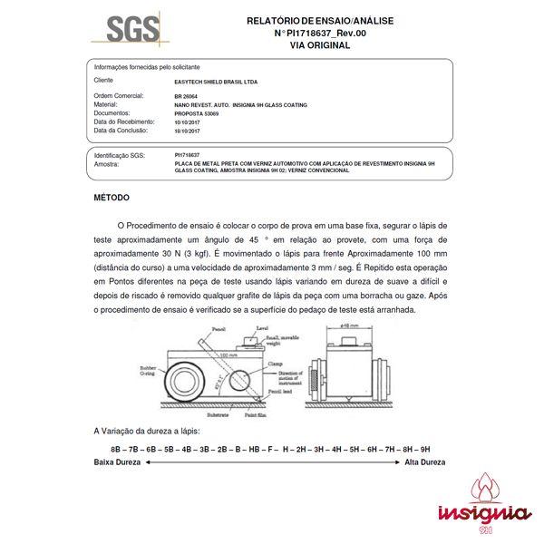 Insignia 9H Vitrificador Nano Automotivo 30ml Easytech