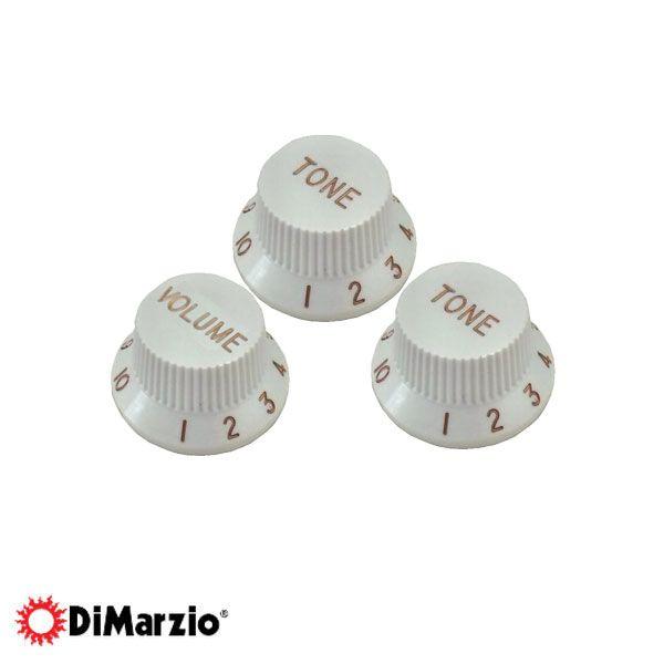 Jogo Com 3 Knobs Vintage Dimarzio Dm2111 Branco