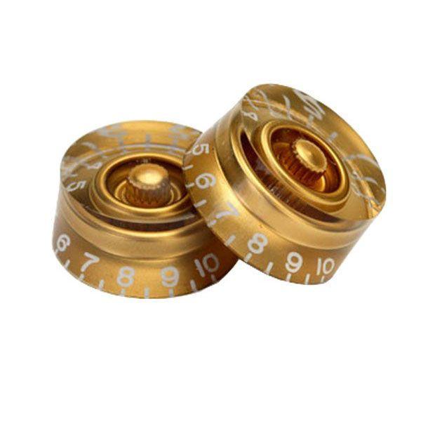 Knob Plástico Speed Reto Dourado