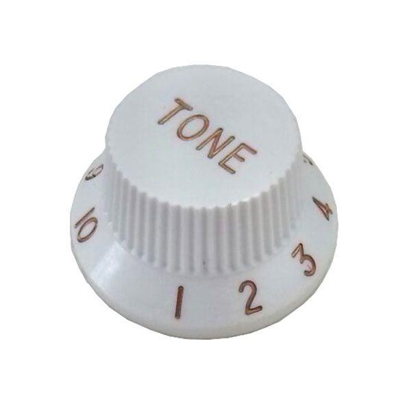 Knob Plástico Tradicional Strato Tone Branco