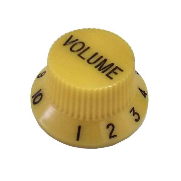 Knob Plástico Tradicional Strato Volume Amarelo