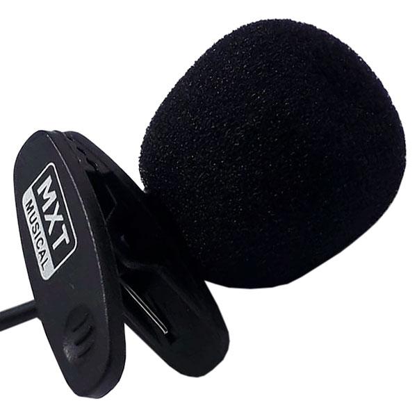 Microfone de Lapela P2 Stéreo MX-L01 Com Cabo 90CM MXT