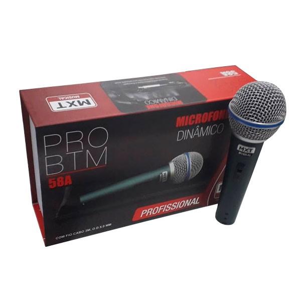 Microfone Dinâmico PRO BTM-58A MXT