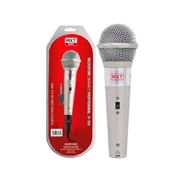 Microfone M-996 Prata Com Cabo MXT