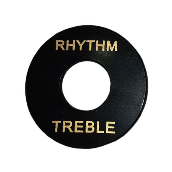 Moldura para Chave Les Paul Treble Rhythm Preta
