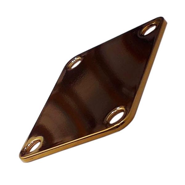 Neck Plate Para Guitarra e Baixo Liso Dourado