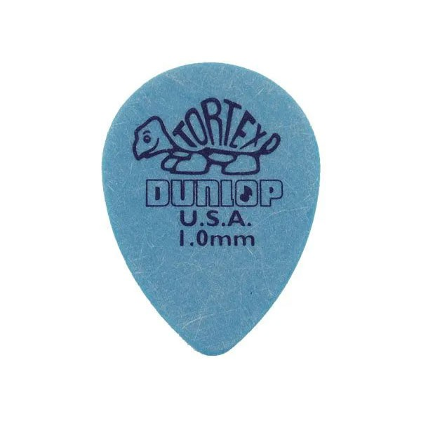 Palheta Tortex Small 1mm Teardrop Azul Dunlop