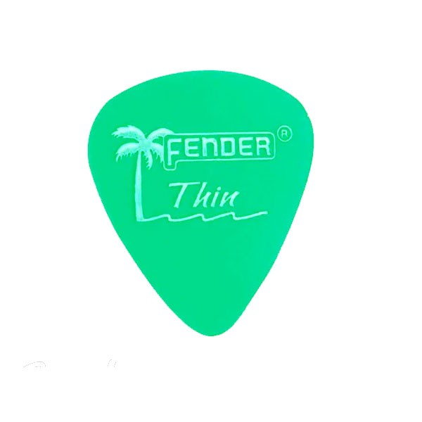 Palheta Fender Califórnia Green Thin
