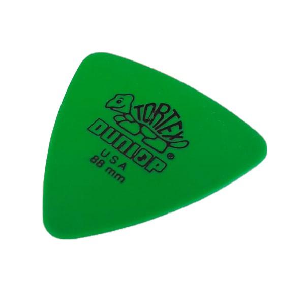 Palheta Tortex Triangles 0.88mm Verde Dunlop