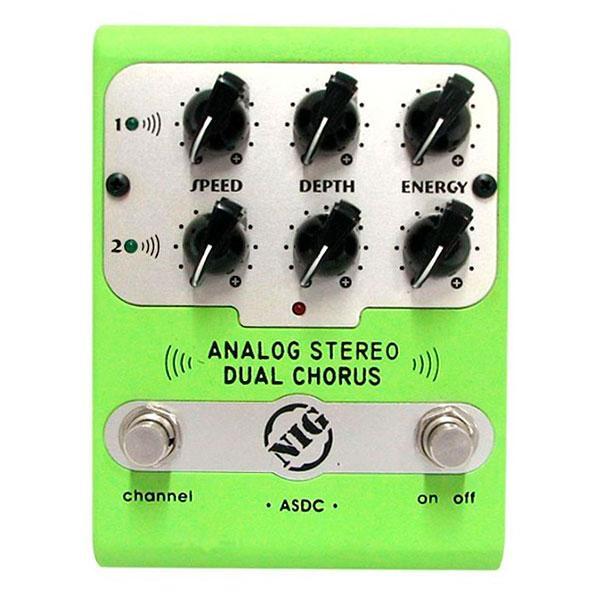 Pedal Para Guitarra Analog Stereo Dual Chorus ASDC NIG