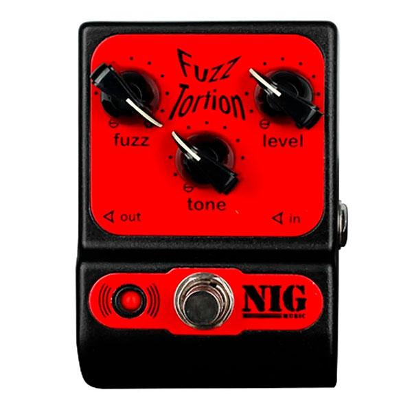 Pedal Para Guitarra Fuzz Tortion PFT NIG