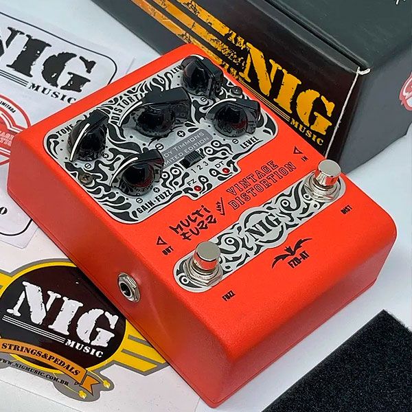 Pedal Para Guitarra Multi Fuzz And Vintage Distortion Andy Timmons FZD-AT NIG