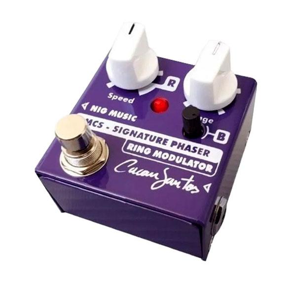 Pedal Para Guitarra Signature Phaser & Ring Modulator Cacau Santos MCS NIG