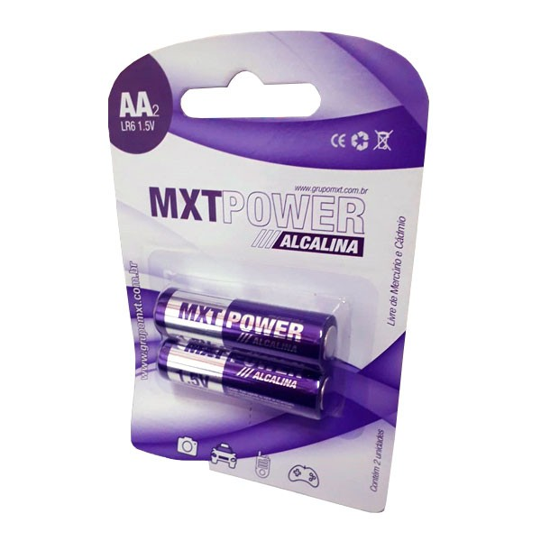 Pilha Power Alcalina AA MXT