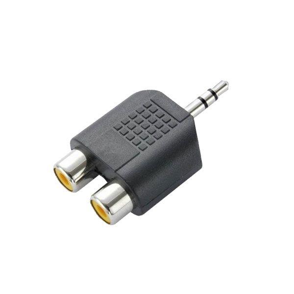 Plug Adaptador P2 Stereo Para 2 Jack Rca