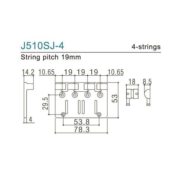 Ponte Para Baixo 4 Cordas Gotoh J510sj-4 19mm Cromada