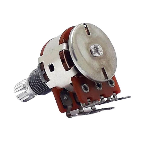 Potenciômetro Duplo Center Click Para Balanço de Captadores Guitarra e Baixo 100k 18/16mm Alpha