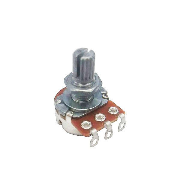 Potenciômetro para Guitarra e Baixo B 500k 24/15mm