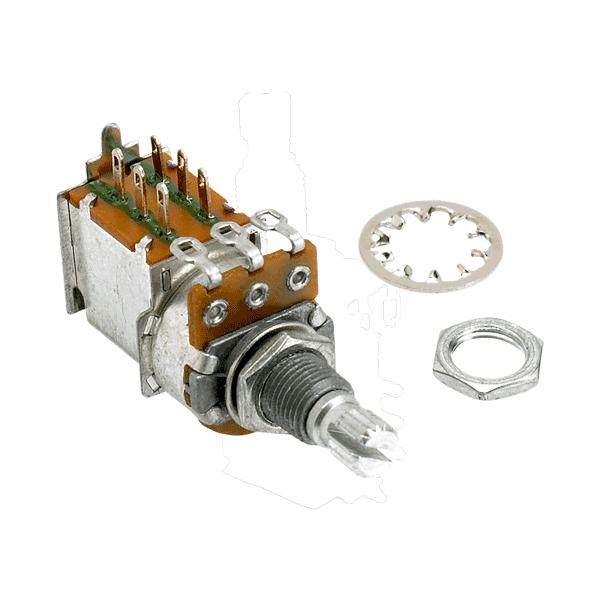 Potenciômetro Push Pull para Guitarra A 500k 16/18mm