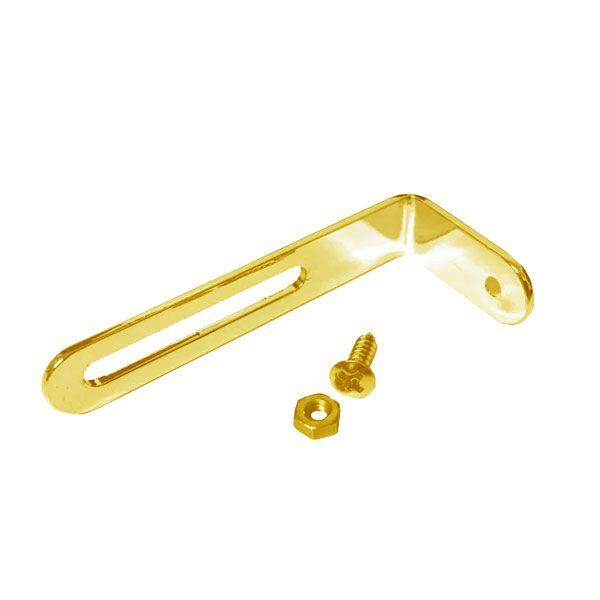 Suporte Para Escudo De Metal Les Paul em L Dourado