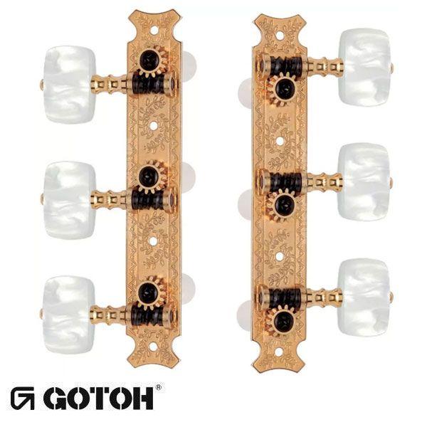 Tarraxa Gotoh para violão clássico, dourada 35G620-EW-GG