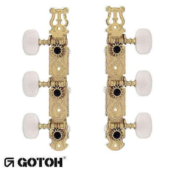 Tarraxa Gotoh para Violão Clássico Semi Dourada 35G-420-SG