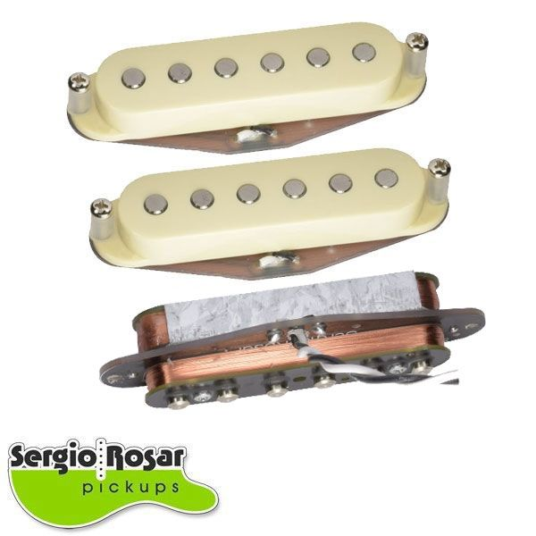 Trio de Captadores Strato Sergio Rosar Hot Noiseless Aged White