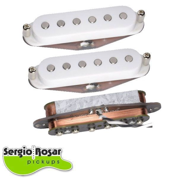 Trio de Captadores Strato Sergio Rosar Hot Noiseless Branco