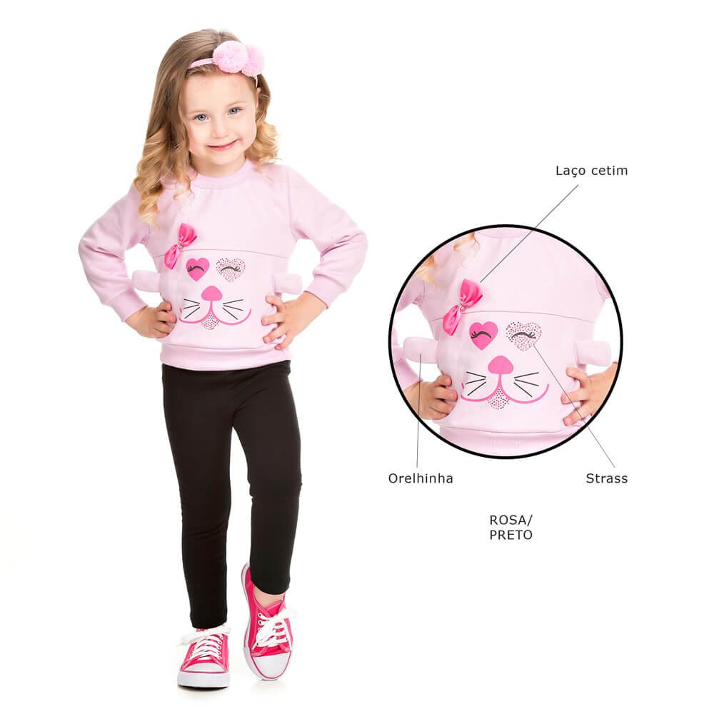 99fcfe0874 Conjunto Infantil Inverno Blusa e Legging Coelhinha - Infância Urbana