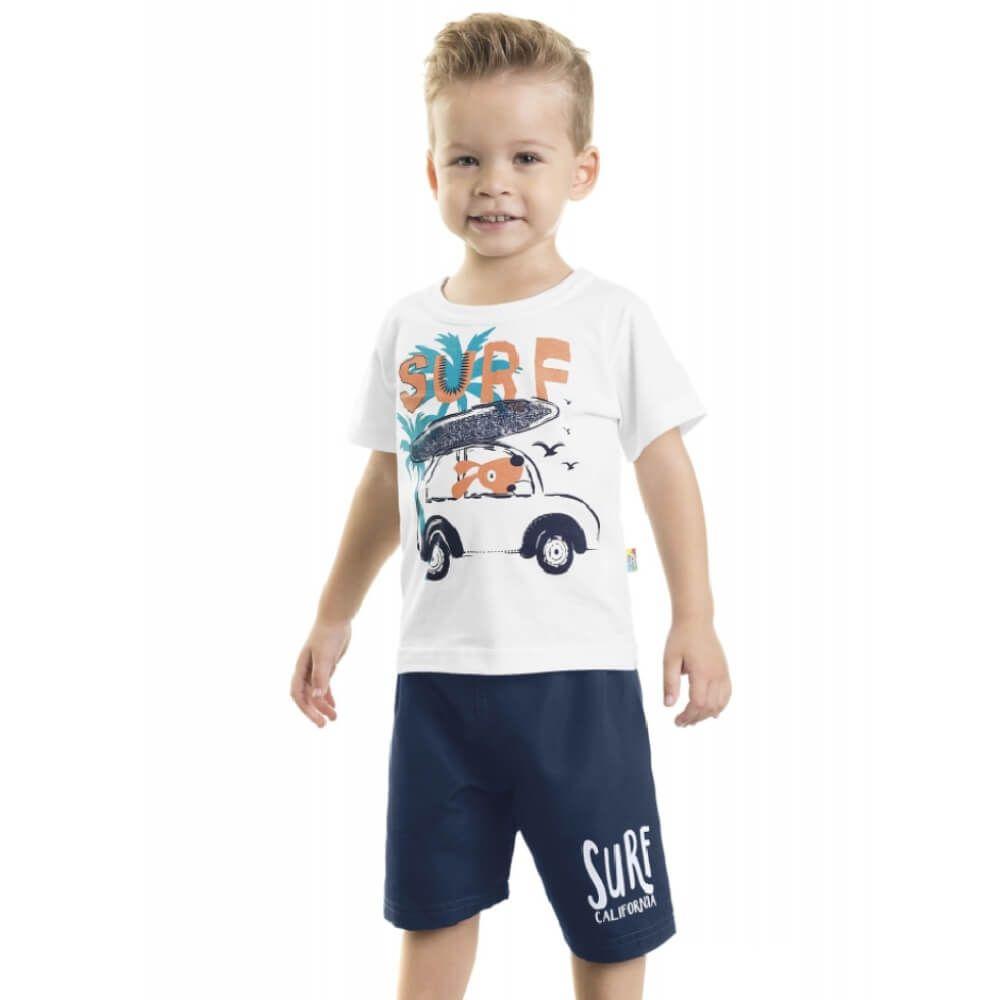 1a4541bd0 Conjunto Infantil Menino Camiseta e Bermuda Surf - Infância Urbana