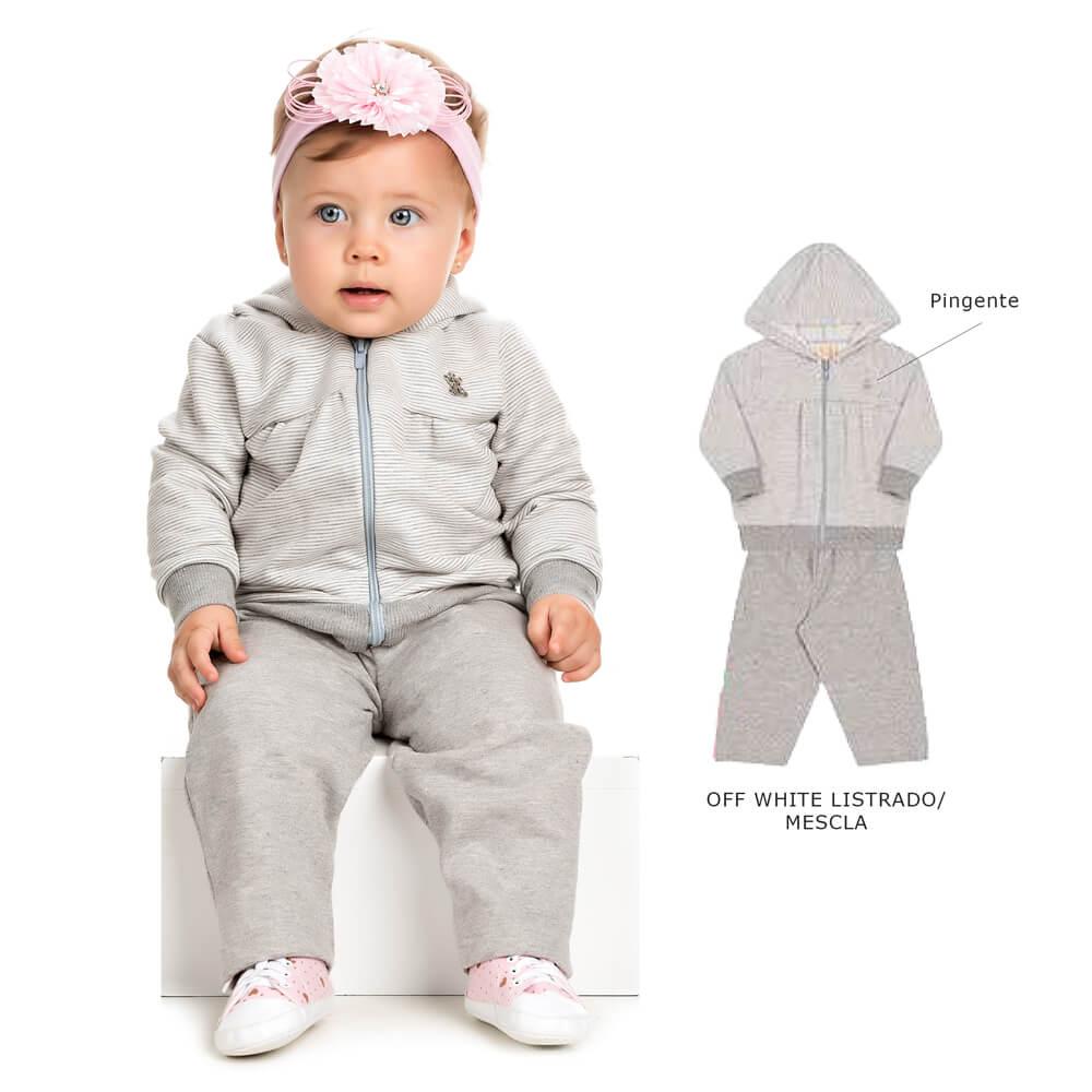 36eb58b33444a2 Conjunto Moletom Bebê Calça e Blusa com Capuz - Infância Urbana
