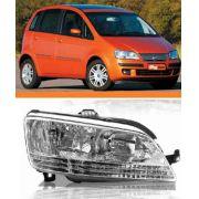 Farol Direito Fiat Idea 2005 2006 2007 2008 2009 2010 Ld