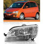 Farol Direito Fiat Idea 2005 2006 2007 2008 2009 2010 Le