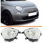 Farol Fiat 500 08 09 2010 2011 2012 2013 Inferior Par