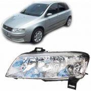 Farol Fiat Stilo 2003 2004 2005 2006 07 08 Plug Quadrado Esq