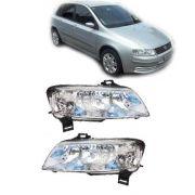 Farol Fiat Stilo 2003 2004 2005 2006 07 08 Plug Quadrado Par