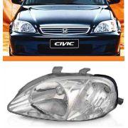 Farol Honda Civic 99 2000 Pisca Cristal Esquerdo