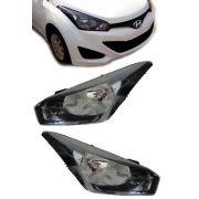 Farol Hyundai Hb20 Mascara Negra 2012 2013novo Importado Par