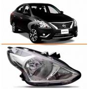 Farol Nissan Versa 2015 2016 17 Cromado Direito