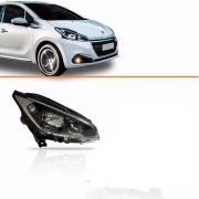 Farol Peugeot 208 C/ Led 13 14 15 Original M/negra Direito